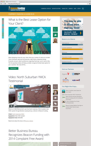 Responsive WordPress Blog Home Page desktop view
