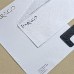 Parago concept branding project stationary items