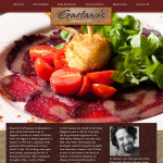 Gaetano's one-page, responsive web site concept home image