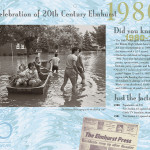 Elmhurst historical calendar, top layout for 1980s