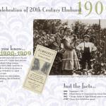 Elmhurst historical calendar, top layout for 1900s