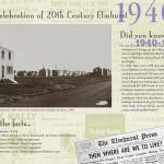 Elmhurst historical calendar, top layout for 1940s