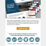 Responsive email for vendor audience