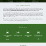 ICS Website About Us: Single-page Scroll